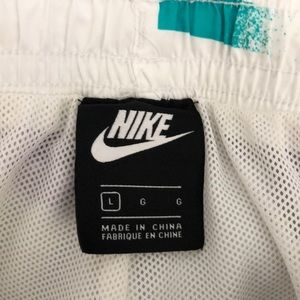 Nike Swim - Nike short purple teal drawstring swim trunks